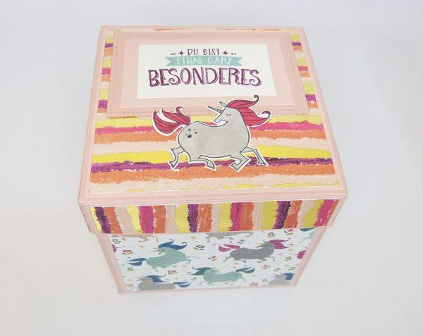 Explosionsbox Einhorn