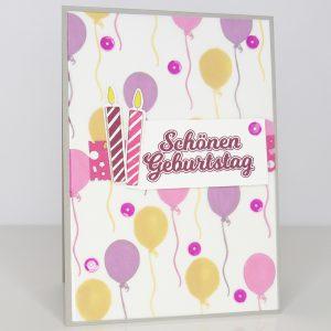 Geburtstagskarte Schönen Geburtstag