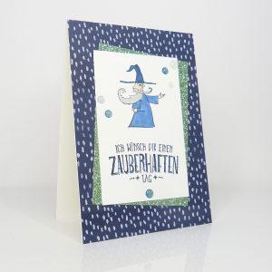 Zauberer Glückwunschkarte Geburtstagskarte