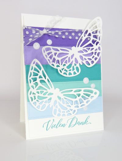 Schmetterlingskarte Vielen Dank