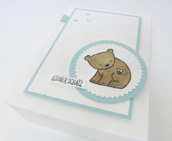 Willkommen Kleiner Schatz Geschenkbox zur Geburt fürs Baby Junge
