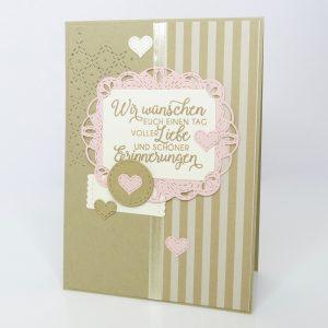Schöne Erinnerungen Savanne Hochzeitskarte