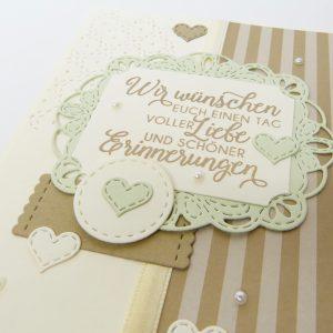 Schöne Erinnerungen Savanne mit Perlen Hochzeitskarte