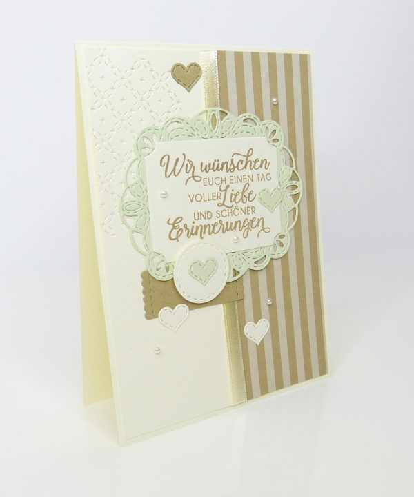 Schöne Erinnerung Savanne Lindgrün Hochzeitskarte