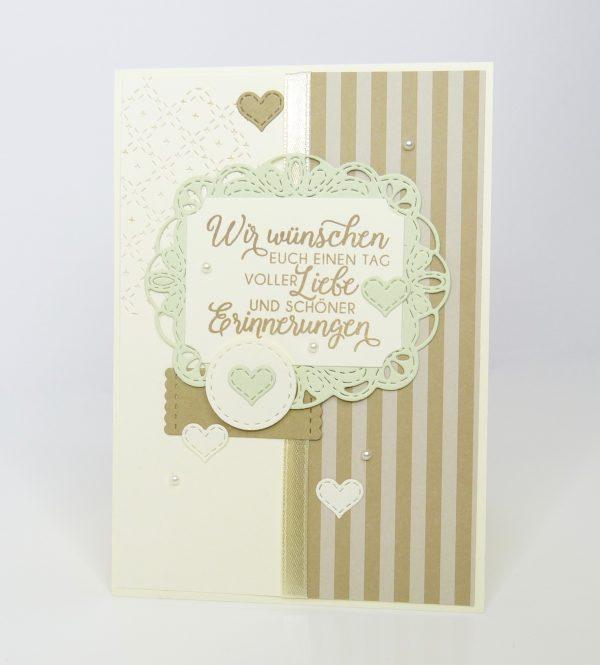 Schöne Erinnerung Lindgrün Perlen Hochzeitskarte