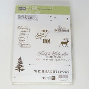 Grüße vom Weihnachtsmann Stempelset gebraucht Stampin Up Stempelitis