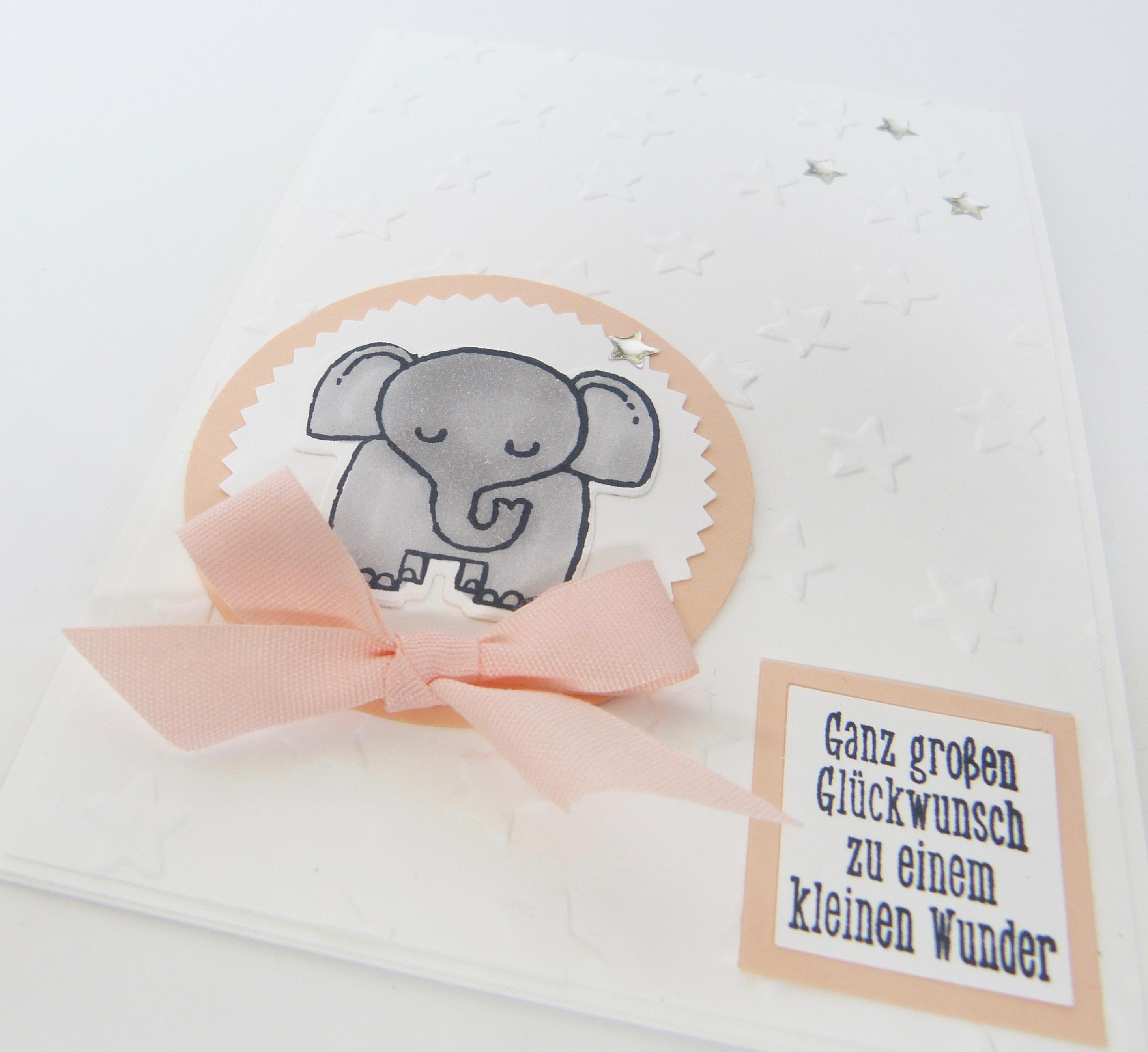 Tierische Glückwünsche Karte Zur Geburt Für Mädchen