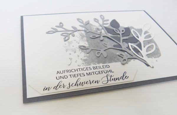 Trauerkarte Blütentraum