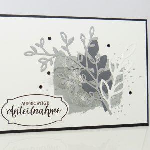 Trauerkarte Aufrichtige Anteilnahme