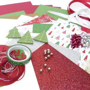 Weihnachtskarten Chili und Silber