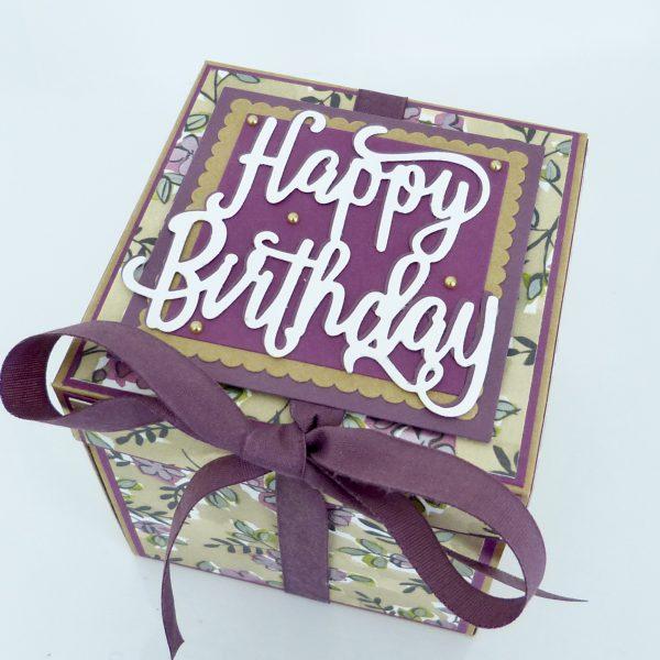 Explosionsbox Happy Birthday