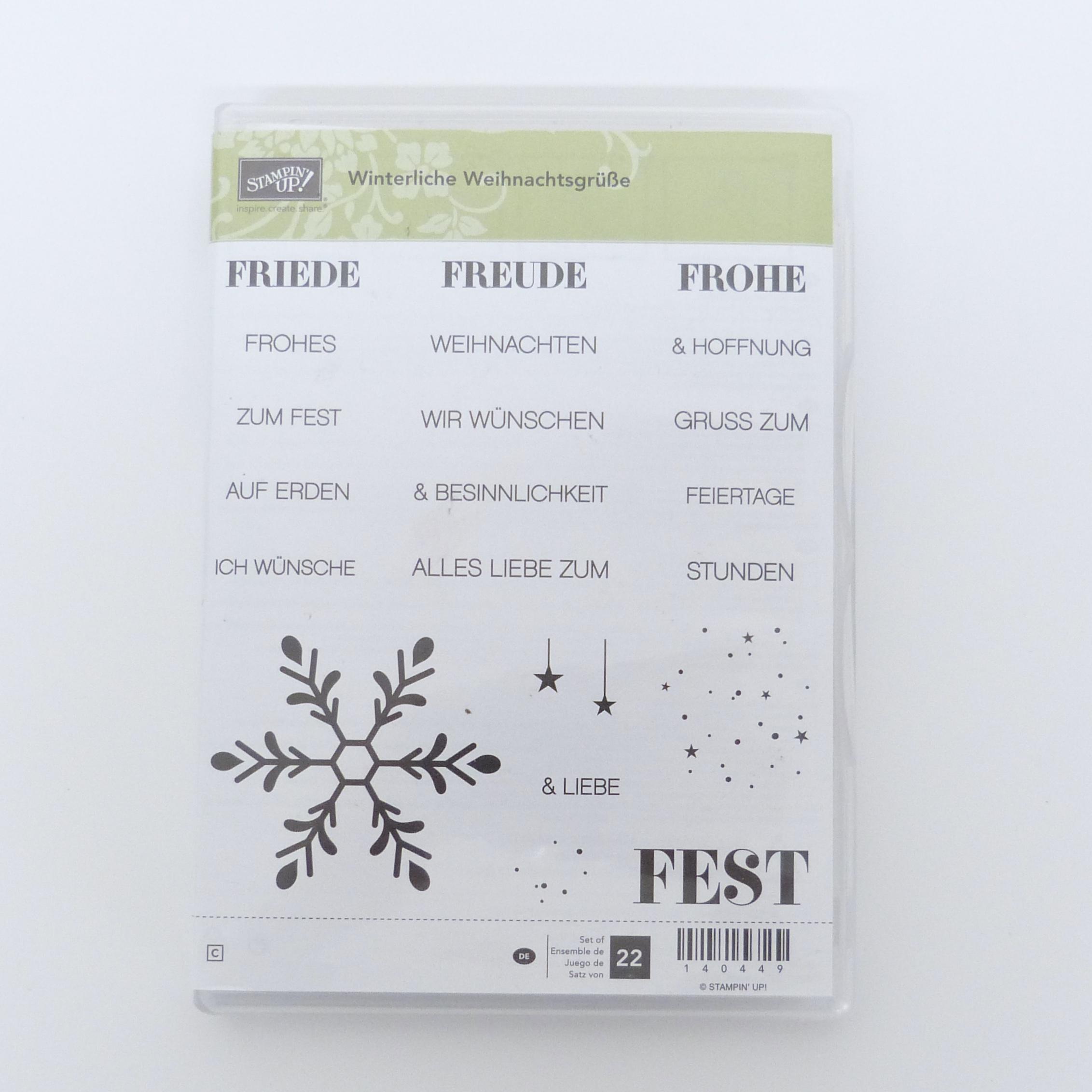 Winterliche Weihnachtsgrüße.Winterliche Weihnachtsgrüße Gebrauchtes Stempelset Von Stampin Up