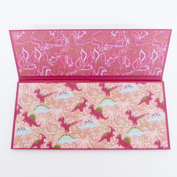 Dufte Dinos in Flamingorot