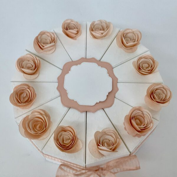 Papiertorte Blütenrosa