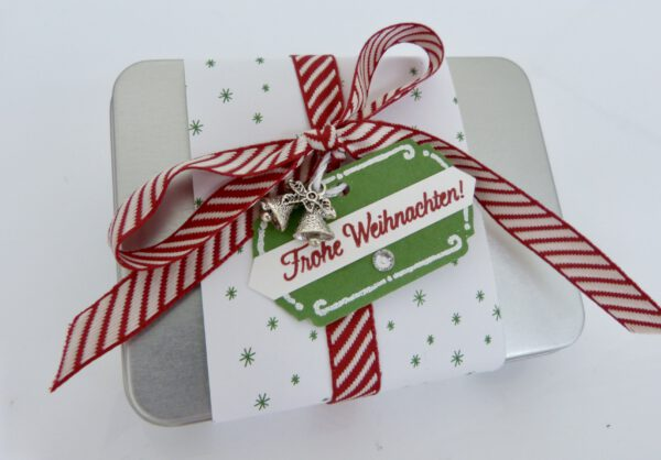 Geschenkdose Frohe Weihnachten