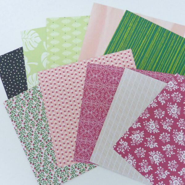Farbenfrohe Papiere