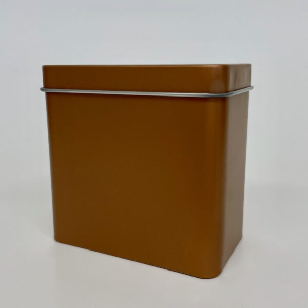 Teedose in Kupfer