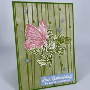 Schmetterling mit Geburtstagsgruß