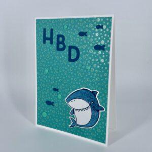 HBD Karte mit Hai