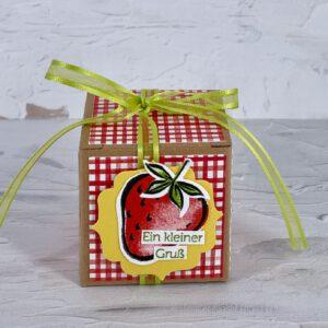 Erdbeere Schachtel